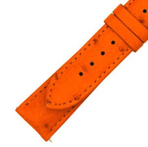 【送料無料】腕時計 ハドレータンジェリンダチョウストラップマットhadley roma 21 mm matte tangerine ostrich leather strap 21os27m