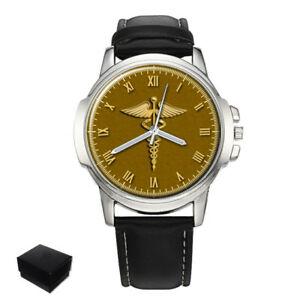 【送料無料】腕時計 シンボルメンズdoctor caduceus medical symbol gents mens wrist watch gift engraving