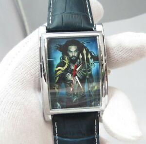 【送料無料】腕時計 ジェイソンアクアメンズキャターウォッチアクアレザーaqua man, dc comix jason momoa big mens character watch,aqua leather m72,