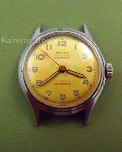 【送料無料】腕時計 ビンテージヘリオスvintage helios 17 jewel wristwatch c1945 working femga 520 cal