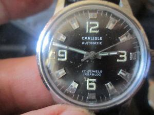 【送料無料】腕時計 カーライルジュエル1960's automatic carlisle wristwatch 17 jewel incabloc