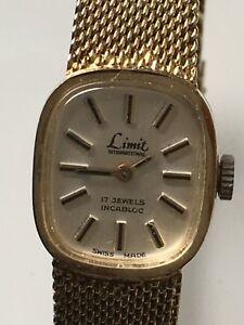 【送料無料】腕時計 レディースストラップladies limit international 17 jewels incabloc watch with integrated strap