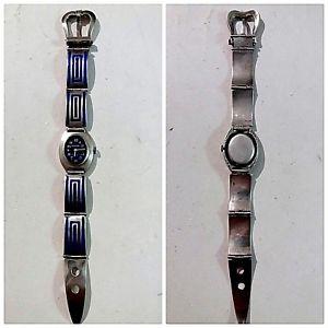 【送料無料】腕時計 カサアルジェントマニュアルraro orologio testudo bracciale e cassa argento 800 carica manuale funzionznte