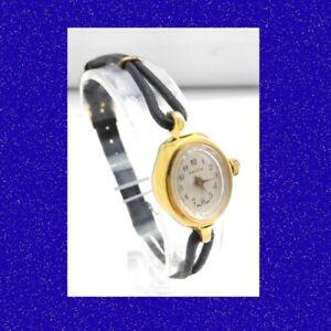 【送料無料】腕時計 レトロゴールドジュエルスイスレディースブレスレットnos stunning retro gold topped 7 jewel swiss ladies bracelet wrist watch 1968