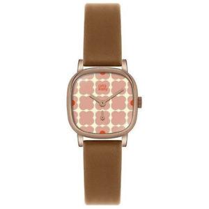 【送料無料】腕時計 レディースレザーストラップorla kiely cecilia ladies leather strap watch ok2056oknp
