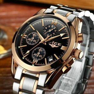 【送料無料】腕時計 カジュアルスポーツクォーツフルスチールビジネスcasual watch military sport men quartz male full steel business gold watch
