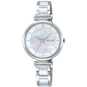 【送料無料】腕時計 パルサーレディースステンレススチールセラミックウォッチ×pulsar ladies stainless steelceramic watch ph8269x1pnp