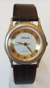 【送料無料】腕時計 レディースゴールドトーンウォッチjanus ladies gold tone watch