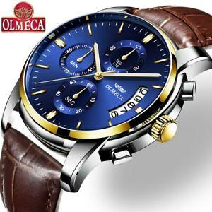 【送料無料】腕時計 オルメカクォーツメンズreloje olmeca men watch leather date quartz watches mens luxury waterproof