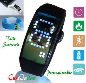 【送料無料】腕時計 メトロコンタタッチカロリーコンピュータorologio iwatch 8gb touch screen usb pedometro contapassi calorie computer 3d pc