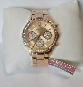 【送料無料】腕時計 レディースステンレススチールクロノグラフクオーツ ladies relic zr15950 stainless steel chronograph quartz watch wr30m 0194