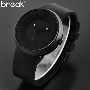 【送料無料】腕時計 クリエイティブウォッチラバーストラップマットbreak creative watch men top luxury rubber strap waterproof matte light spor
