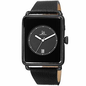 【送料無料】腕時計 ジョシュアブラックレザーウォッチ