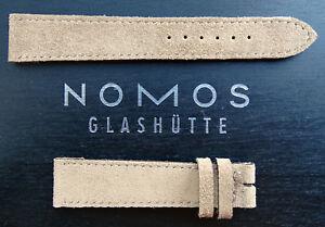 【送料無料】腕時計 グラスヒュッテレザーストラップベージュドイツハンドメイドnomos glashtte leather strap beige 1716 mm handmade in germany unworn