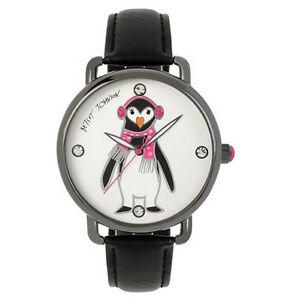 【送料無料】腕時計 ジョンソンホリデーペンギンモチーフブラックメタルウォッチ