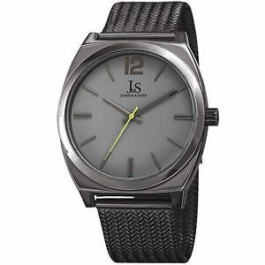 【送料無料】腕時計 メンズジョシュアクォーツムーブメントスチールメッシュブレスレットmens joshua amp; sons jx124gnlm quartz movement steel mesh bracelet watch