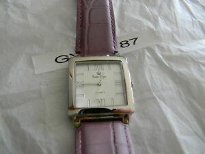 【送料無料】腕時計 プレミアデザインパープルレザーウォッチゴージャスドルpremier designs elizabeth purple leather watch gorgeous rv 68 free ship