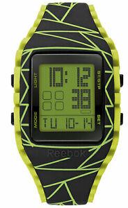 【送料無料】腕時計 リーボックワークアウトメンズデジタルスポーツブラックグリーンウォッチ
