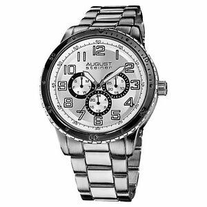 【送料無料】腕時計 #シュタイナークォーツマルチファンクションブレスレット men039;s august steiner as8060sl daydate quartz multifunction bracelet watch