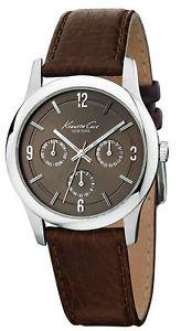 【送料無料】腕時計 ケネスニューヨークメンズkenneth cole york reaction kc1350 mens multifunction watch brown leather