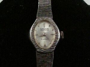 【送料無料】腕時計 ビンテージレディースグリーンキャリバーvintage ladies gruen 17j wristwatch caliber 227r runs