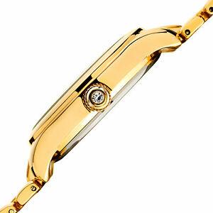 腕時計 バールスワロフスキークリスタルゴールドトーンブラックステンレススチールウォッチ