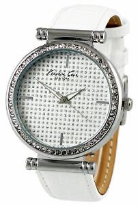 【送料無料】腕時計 ケネスニューヨーク#アナログホワイトレザーウォッチストラップkenneth cole york kcw2004 women039;s analog watch white leather strap
