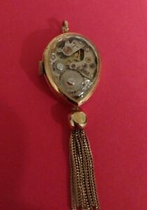 【送料無料】腕時計 #ビンテージクロフォードペンダントvintage crawford 17 jewels women039;s pendant watch