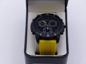 【送料無料】腕時計 ペリーエリスメンズスポーツイエローブラックシリコンウォッチ