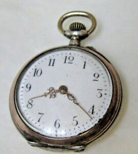 【送料無料】腕時計 アンティークレディースペンダントポケットシリンダシルバーケース