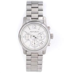 【送料無料】腕時計 ステンレススチールクロノグラフrepublic womens stainless steel chronograph watch rp1098