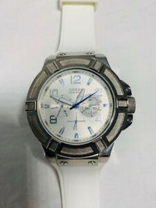 【送料無料】腕時計 gシリコンストラップguess w0247g1,mens rigor multifunction,white silicone strap