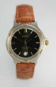 【送料無料】腕時計 ジュネーブメンズウォッチステンレスシルバーゴールド