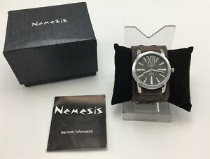 【送料無料】腕時計 シリーズクオーツステンレススチールレザーウォッチnemesis dfxb065kw womens roman series quartz stainless steel amp; leather watch