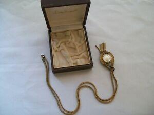 【送料無料】腕時計 ビンテージレディシェフィールドネックレスペンダントウォッチスイスオリジナルケース