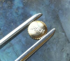 【送料無料】腕時計 ビンテージグリーンイエローゴールドvintage gruen watch parts 5 signed gruen yellow gold crowns waterproof type nos