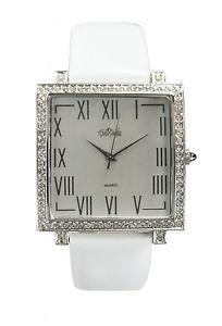 【送料無料】腕時計 ボブマッキーシルバートーンクリスタルパテントレザーウォッチミント