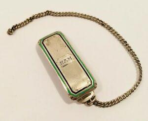 【送料無料】腕時計 アールデコマーシュスターリングシルバーエナメルウォッチフォブベルトクリップart deco marsh sterling silver enamel watch fob belt clip monogrammed ram