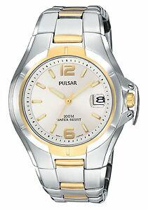 【送料無料】腕時計 パルサートーンステンレススチールメンズスポーツウォッチpulsar mens pxh556 sport twotone stainless steel watch