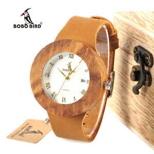 【送料無料】腕時計 ボボゼブラウッドボックスクリスマスluxury bobo bird zebra wooden watches date xmas gifts for her mum women wood box