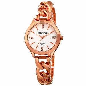【送料無料】腕時計 シュタイナーハンドクォーツムーブメントリンクブレスレットwomens august steiner as8222rg three hand quartz movement link bracelet watch