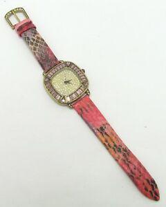 【送料無料】腕時計 ヒースデイビスヘビエンボスピンクストラップウォッチheide davis its high time to sparkle snake embossed ombre pink strap watch