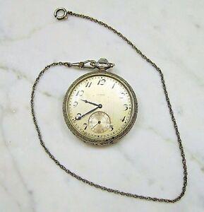 【送料無料】腕時計 ジュエルホワイトゴールドポケットチェーンウォッチ