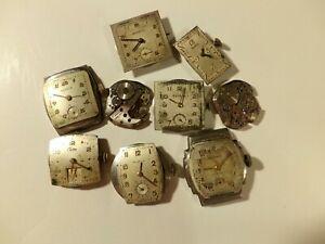 【送料無料】腕時計 ヴィンテージクロトンウォッチvintage lot of 9 watch movements benruscroton ~inv1004~