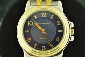 【送料無料】腕時計 メンズボートーンnice mens beau brummer two tone quartz wristwatch keeping time
