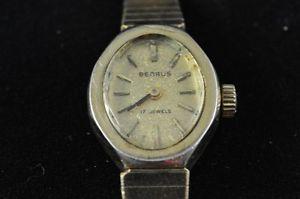 【送料無料】腕時計 ビンテージレディースウオッチメーカーvintage ladies benrus wristwatch caliber r78 running