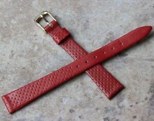 【送料無料】腕時計 ウォッチストラップレディースビンテージヨーロッパstunning red pinpoint 13mm ladies vintage watch strap genuine leather european