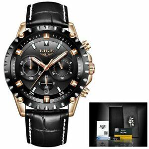 【送料無料】腕時計 ラグジュアリースポーツ#レザークオーツブラック