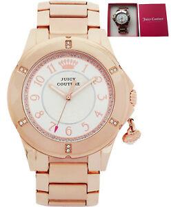 【送料無料】腕時計 ジューシークチュールレディース#ローズブレスレット**reduced*** juicy couture 1901201 ladies039; rich girl rose charm bracelet watch