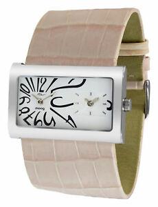【送料無料】腕時計 パリブレスレットローズバスmoog paris montre femme avec cadran blanc, bracelet rose ple en cuir vritable